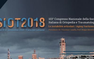 SIOT 2018 Bari: congresso nazionale della società italiana di ortopedia e traumatologia